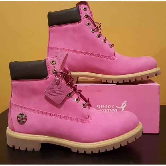 ff30502110a1 Pink Timberlands Susan G. Komen limited edition